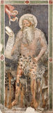 Verona -  Fresco of Prophet  of church San Fermo Maggiore from 13. cent. Stock Photos
