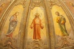 Verona -  Fresco of Resurrected Jesus from main apse of church Santa Eufemia Stock Image