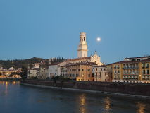 Verona full moon Royalty Free Stock Photo