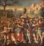 Verona - Gefangenschaft von Christus von Avanzi Kapelle in San- Bernardinokirche Stockfotografie