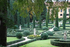 Verona, Giusti garden. A photo of historical garden in Verone Stock Image
