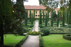 Verona, Giusti garden stock photo