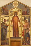 Verona - Heart of Christ painting in basilica San Zeno Stock Photography