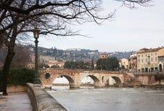 Verona historic center cityscape Stock Photography