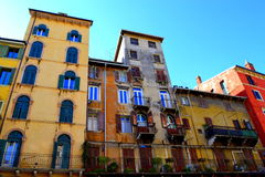 Verona houses Italy Royalty Free Stock Image