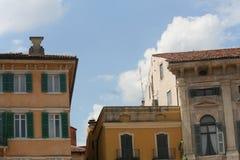 Verona Houses. Looking toward the roofs in Verona, Italy Stock Photo