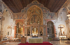 Verona - Interior of church San Fermo Maggiore Stock Photography