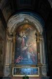 VERONA, ITÁLIA - 24 DE MARÇO: Pintura em Verona Cathedral em Veron Imagens de Stock