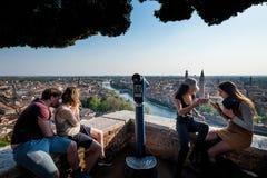 VERONA, Italië - April 04, 2017: Cityscape van Verona, Veneto royalty-vrije stock fotografie