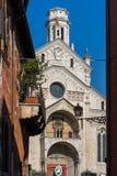 VERONA, ITALIË - MAART 24: Mening van Verona Cathedral in Verona It Royalty-vrije Stock Foto