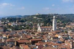 VERONA, ITALIË - MAART 24: Mening van Verona van Lamberti Towe Stock Foto