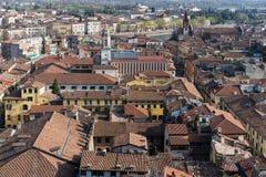 VERONA, ITALIË - MAART 24: Mening van Verona van Lamberti Towe Royalty-vrije Stock Fotografie