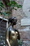 VERONA, ITALIË - MAART 24: Standbeeld van Juliet in Verona Italy op M Royalty-vrije Stock Afbeelding