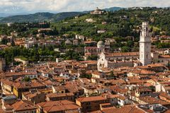 Verona, Italië van hierboven royalty-vrije stock afbeelding