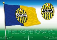 VERONA, ITALIA, AÑO 2017 - campeonato del fútbol de Serie A, bandera 2017 del equipo de Hélade Verona
