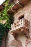 VERONA, ITALIA - 25 de junio de 2017: Romeo y Juliet Balcony y PA fotografía de archivo