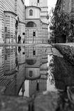 Verona, Italia, ponte di pietra, il vecchio castello, vista panoramica Fotografia Stock