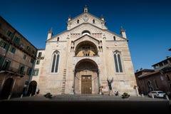 VERONA Italien - April 04, 2017: Cityscape av Verona, Veneto Fotografering för Bildbyråer