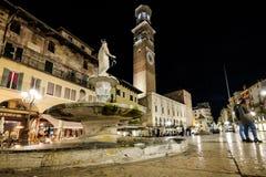VERONA Italien - April 04, 2017: Cityscape av Verona, Veneto Arkivfoton