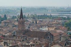 Verona Italien, katolska domkyrkor av Verona royaltyfri bild