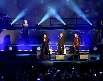Verona Italien - Oktober 14, 2017: Live Concert av Umberto Tozzi Royaltyfri Foto