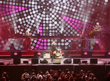 Verona Italien - Oktober 14, 2017: Live Concert av Umberto Tozzi Royaltyfri Fotografi