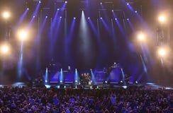 Verona Italien - Oktober 14, 2017: Live Concert av Umberto Tozzi Royaltyfria Foton