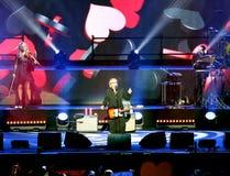 Verona, Italien - 14. Oktober 2017: Live Concert von Umberto Tozzi Lizenzfreie Stockfotos