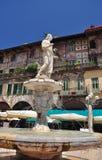 Verona Italien. PiazzadelleErbe fyrkant. Royaltyfria Foton