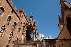 Verona Italien, Scaliger gravvalv, gotisk arkitektur Royaltyfri Fotografi
