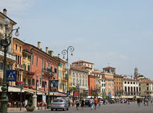 Verona Italy ancient. The centre of the Old city of Verona Italy Royalty Free Stock Images