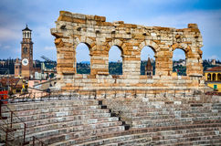 Verona, Italy - Arena, amphitheatre of Ancient Rome. Royalty Free Stock Photos