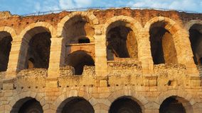 Verona, Italy. The Arena is a Roman amphitheater in the city center royalty free stock photography