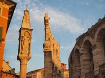 Verona, Italy. The Arena is a Roman amphitheater in the city center royalty free stock photos