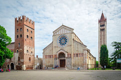 Verona (Italy), Basilica of San Zeno Stock Photography
