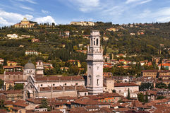 Verona Italy - The Cathedral and Hills Royalty Free Stock Photo