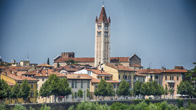 Verona Italy Centro royaltyfri fotografi