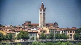 Verona Italy Centro. Verona Italy Towers and Bridges royalty free stock photography