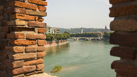 Verona Italy Centro. Verona Italy View from the Castle Stock Photos