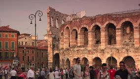 VERONA, ITALY:The city has been awarded World Heritage ;Ultra Hd 4k,real time stock video footage
