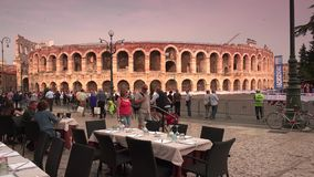 VERONA, ITALY:The city has been awarded World Heritage ;Ultra Hd 4k,real time stock footage
