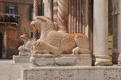 Verona, Italy. Duomo entrance detail Royalty Free Stock Image