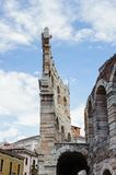 Old Verona, Italy, UNESCO World Heritage. VERONA, ITALY - JUN 26, 2014: Verona Arena (Arena di Verona), a Roman amphitheatre in Piazza Bra in Verona, Italy. It royalty free stock photo