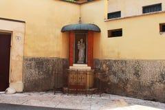 Verona, Italy, Madonna statue Stock Photos