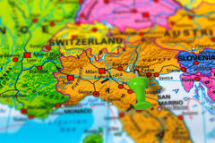 Verona Italy map Stock Photo