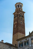 VERONA, ITALY - MARCH 24 : View of the Lamberti Tower in Verona Royalty Free Stock Image