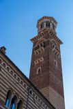 VERONA, ITALY - MARCH 24 : View of the Lamberti Tower in Verona Royalty Free Stock Photo