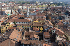 VERONA, ITALY - MARCH 24 : View of Verona from the Lamberti Towe Royalty Free Stock Photography