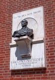 Verona, Italy - 06 May 2018: A memorial bas-relief dedicated to Giacomo Matteotti on Independence square. Giacomo stock photo