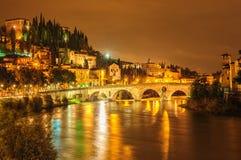 Verona, Italy. Night view of Verona, Italy Royalty Free Stock Photos